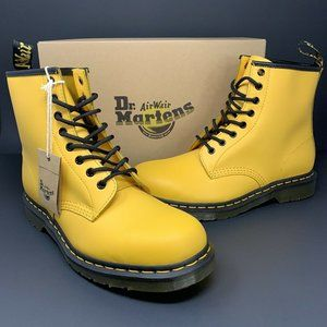 Dr. Martens 1460 Yellow Smooth Leather Lace Up New